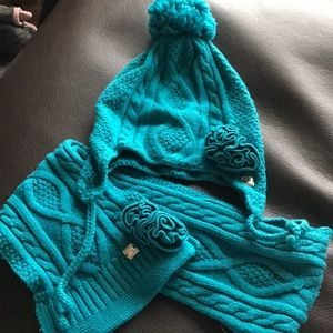 Girls hat and scarf set 2T-5T